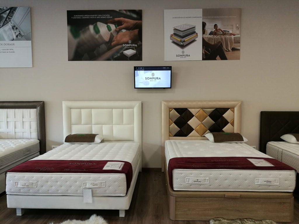 Merkadescanso Huelva, Exposición de colchón, probar un colchón